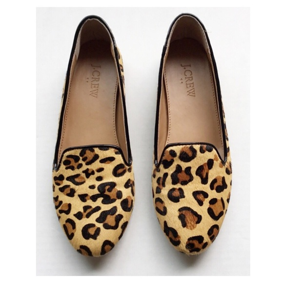 acad08682e7 J. Crew Shoes - J. Crew Factory Cora Leopard Calf-Hair Loafers